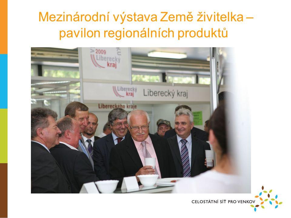 Mezinárodní výstava Země živitelka – pavilon regionálních produktů