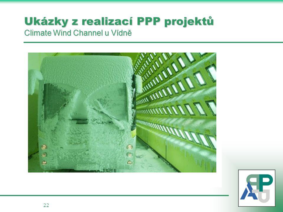 22 Ukázky z realizací PPP projektů Climate Wind Channel u Vídně