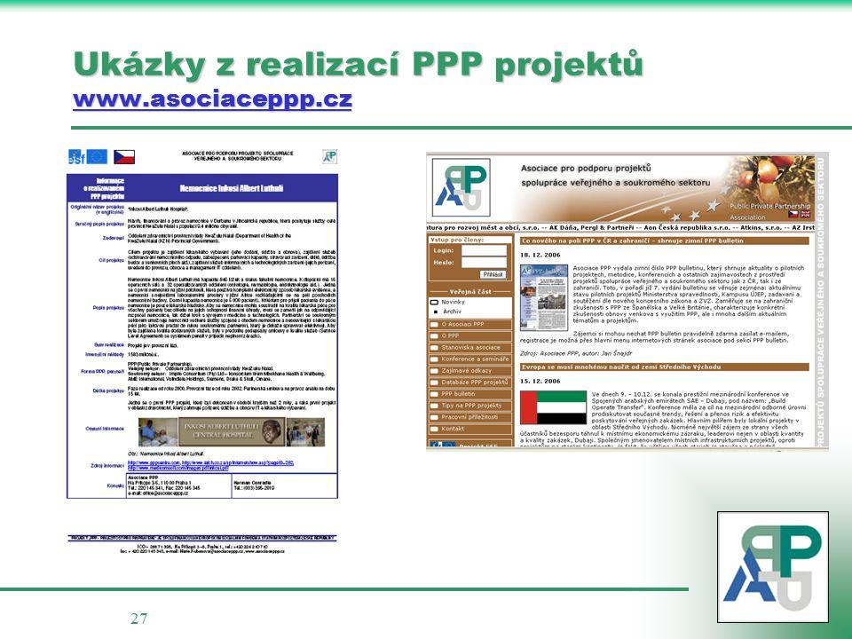 27 Ukázky z realizací PPP projektů www.asociaceppp.cz