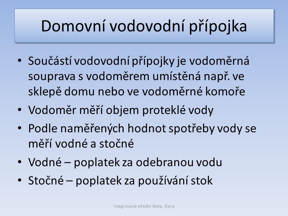 Vodoměr Obr. č.4 Integrovaná střední škola, Slaný