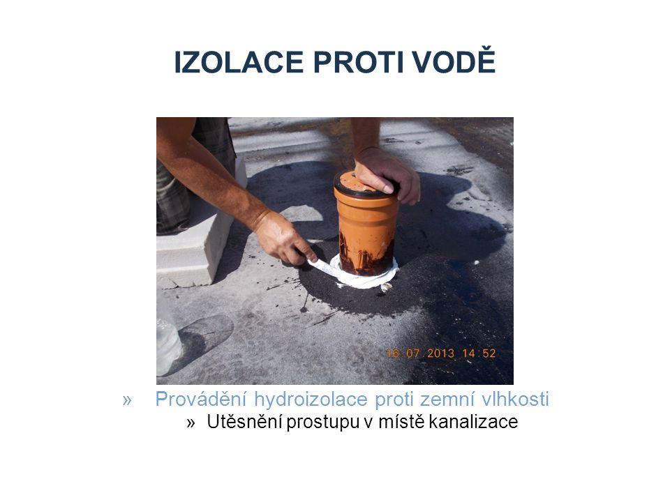 IZOLACE PROTI VODĚ »Provádění hydroizolace proti zemní vlhkosti »Utěsnění prostupu v místě kanalizace