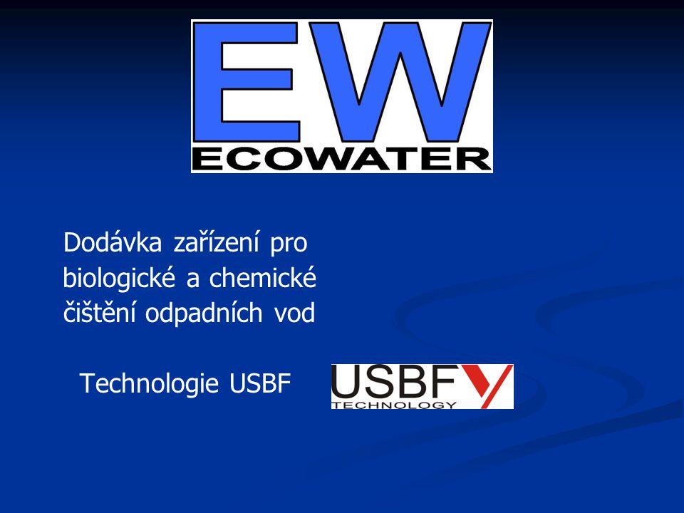 Dodávka zařízení pro biologické a chemické čištění odpadních vod Technologie USBF