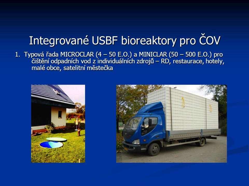 Integrované USBF bioreaktory pro ČOV 1.