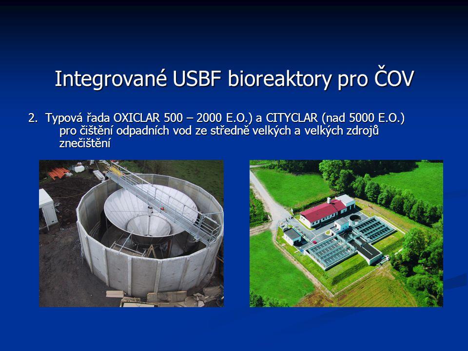 Integrované USBF bioreaktory pro ČOV 2.