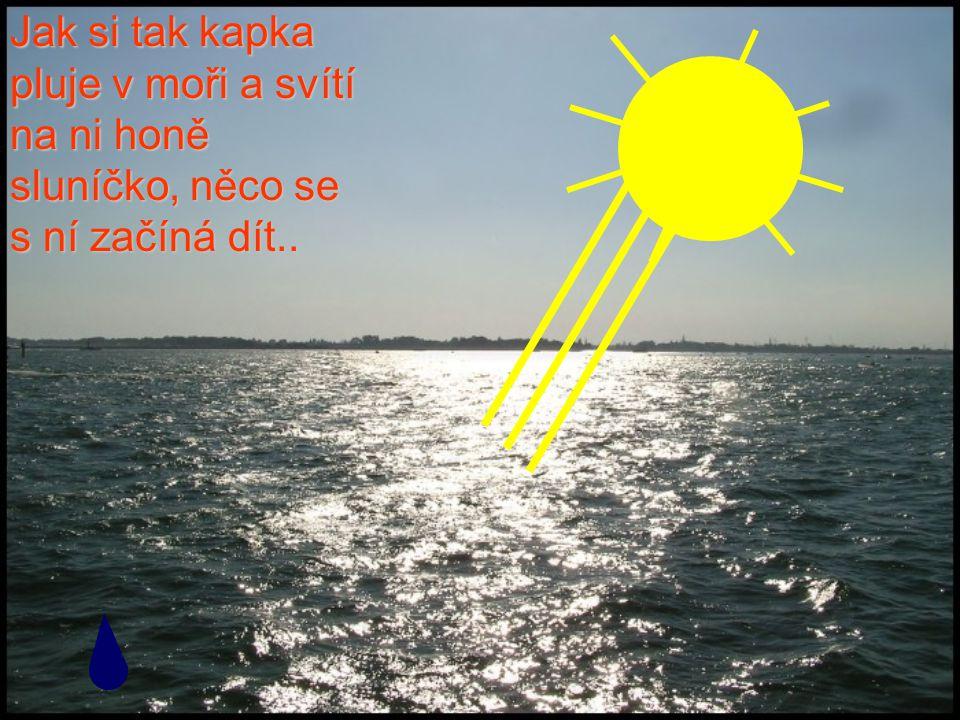 Jak si tak kapka pluje v moři a svítí na ni honě sluníčko, něco se s ní začíná dít..