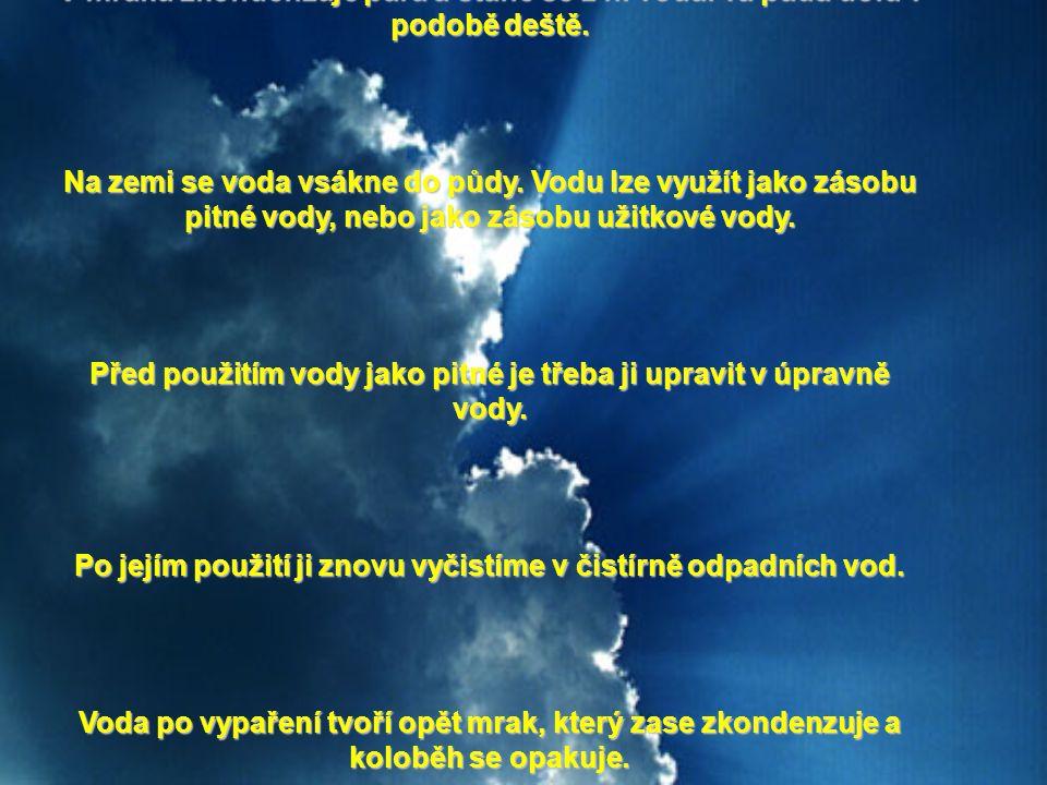 K ZOPAKOVÁNÍ: V mraku zkondenzuje pára a stane se z ní voda.