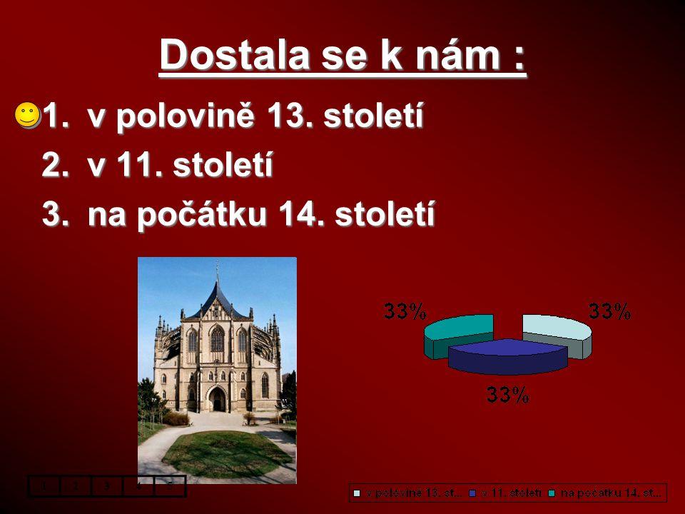 Jaký hrad není gotický ? 1.Konopiště 2.Karlštejn 3.Křivoklát 12345