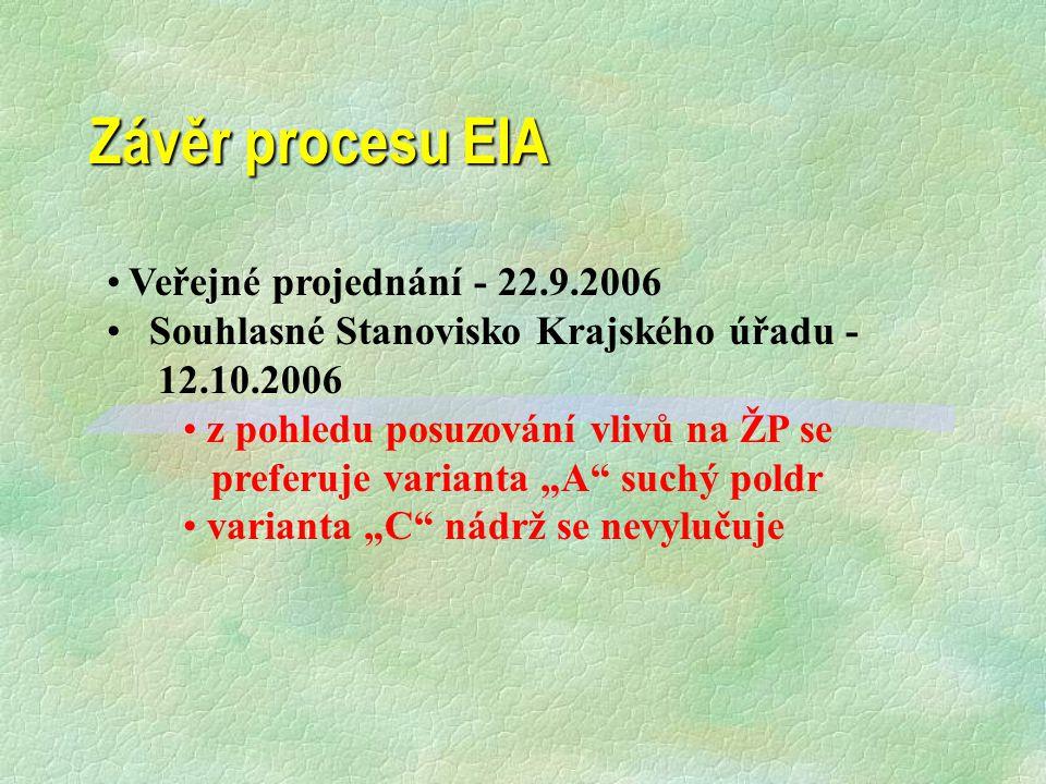 Ichtyologický posudek §Nulová varianta (zachování současného stavu) potoka v nivě, umožní zachovat současnou ichtyofaunu složenou převážně z reofilů s