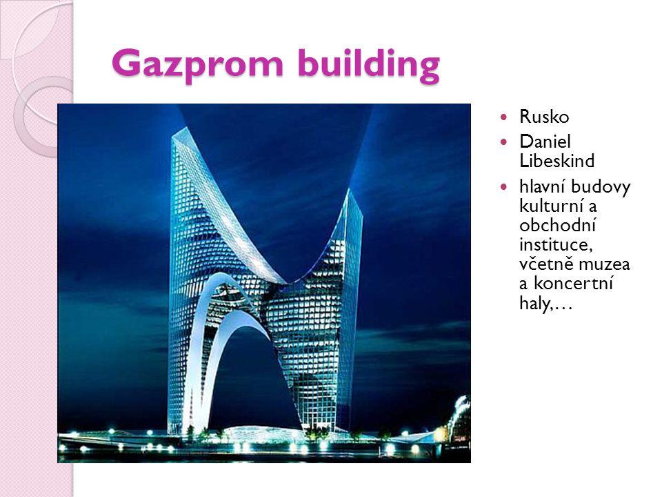 Gazprom building Rusko Daniel Libeskind hlavní budovy kulturní a obchodní instituce, včetně muzea a koncertní haly,…
