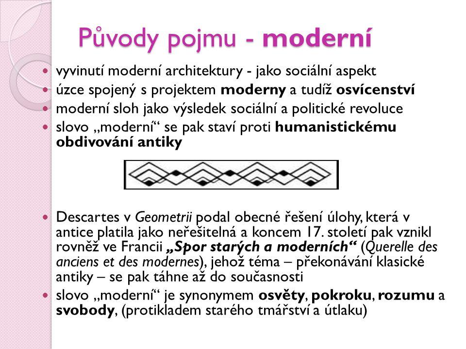 Pojmy Moderní znamená současný nebo nedávný oproti starobylému či zastaralému.