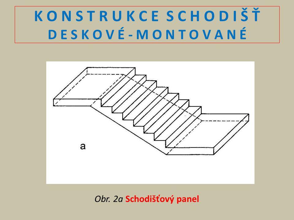 K O N S T R U K C E S C H O D I Š Ť D E S K O V É - M O N T O V A N É Obr. 2a Schodišťový panel