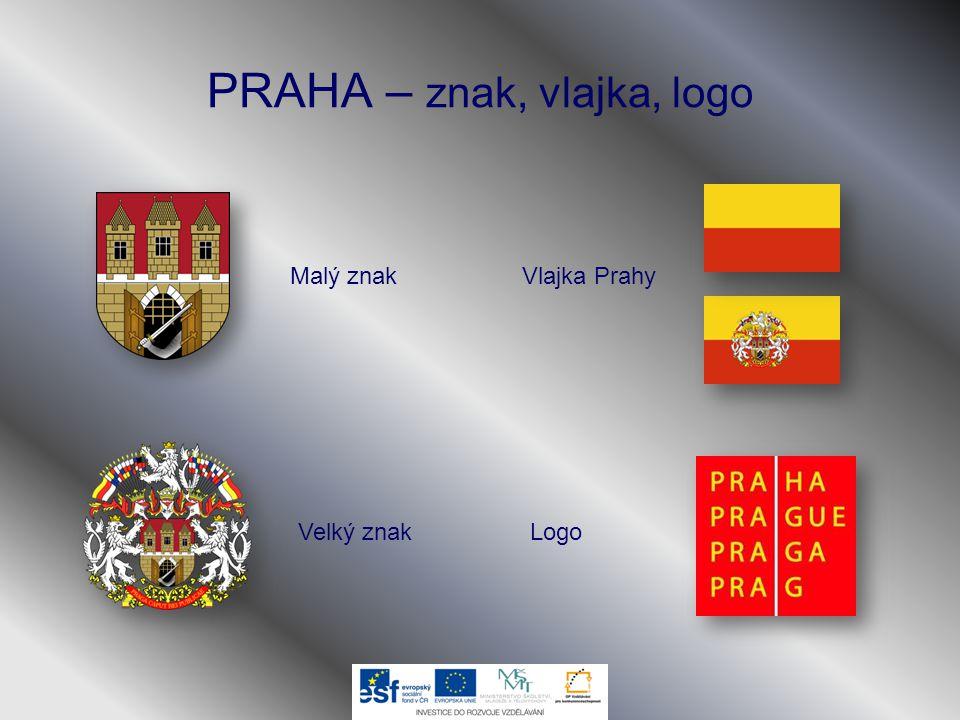 PRAHA – znak, vlajka, logo Malý znak Velký znak Vlajka Prahy Logo