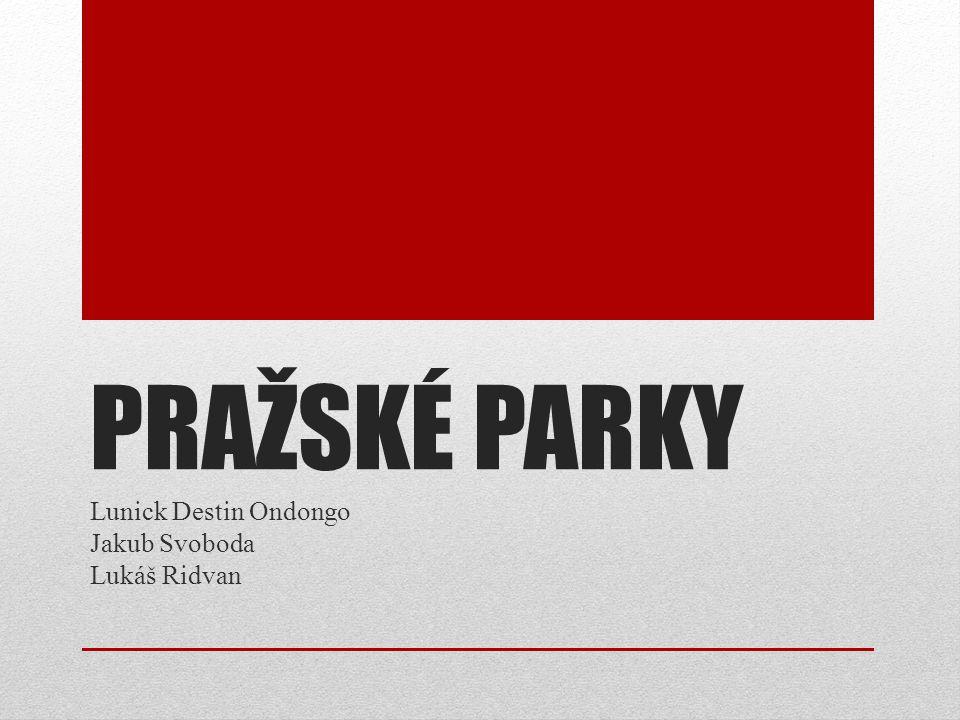 PRAŽSKÉ PARKY Lunick Destin Ondongo Jakub Svoboda Lukáš Ridvan