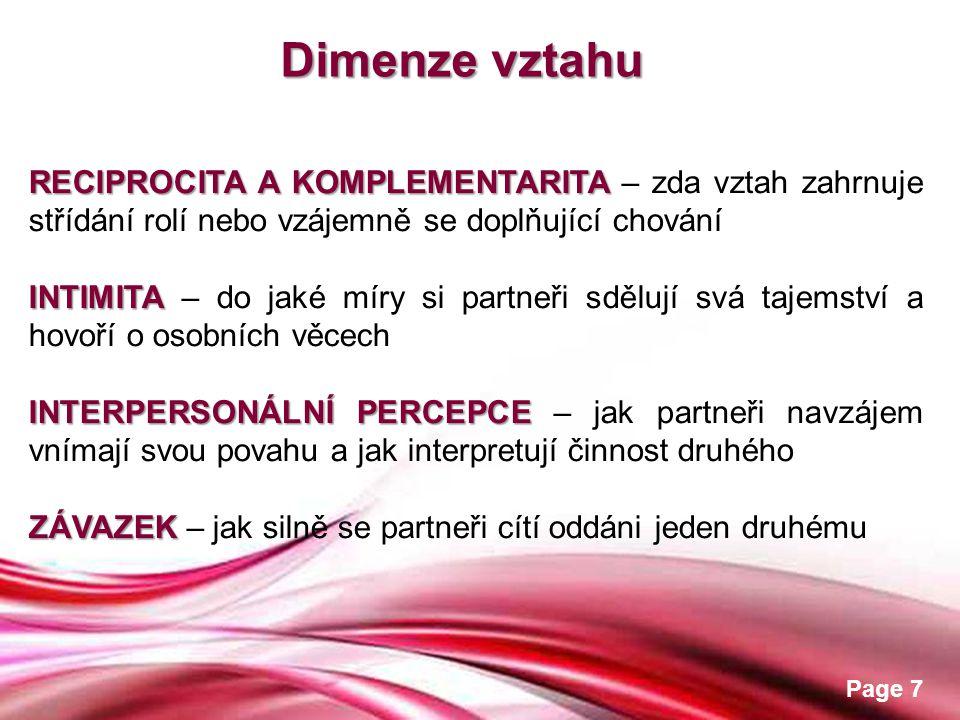 Free Powerpoint Templates Page 8 Vývoj vztahu Hledání podnětů Vytvoření kontaktu Určování vlastností Budování intimity Udržení pouta