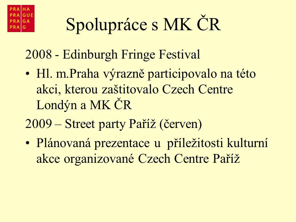 Spolupráce s MK ČR 2008 - Edinburgh Fringe Festival Hl.