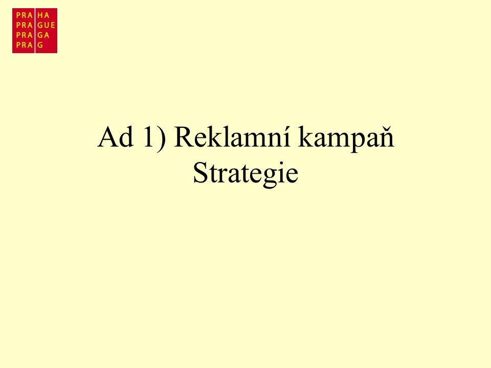 Ad 1) Reklamní kampaň Strategie
