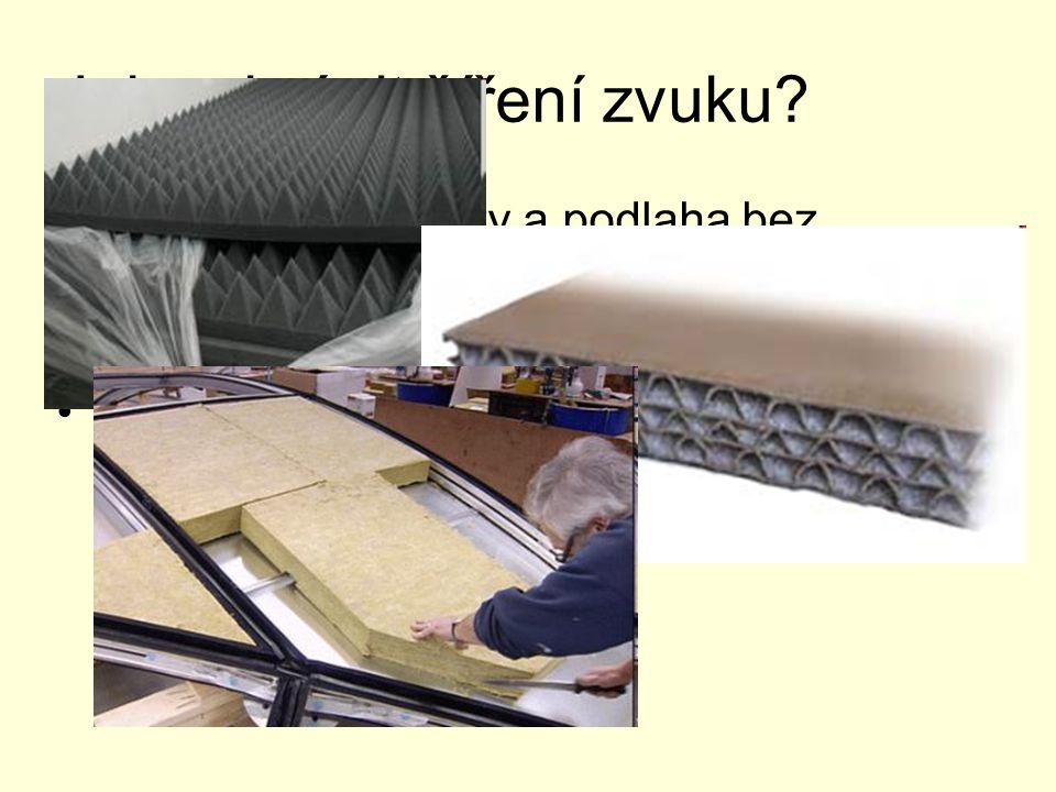 Jak zabránit šíření zvuku? Stěny, okna, obrazy a podlaha bez koberce zvuk mnohonásobně odrážejí - vzniká nepříjemná tzv. třepotavá ozvěna Šíření zvuku