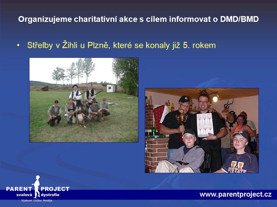 Organizujeme charitativní akce s cílem informovat o DMD/BMD Střelby v Žihli u Plzně, které se konaly již 5. rokem
