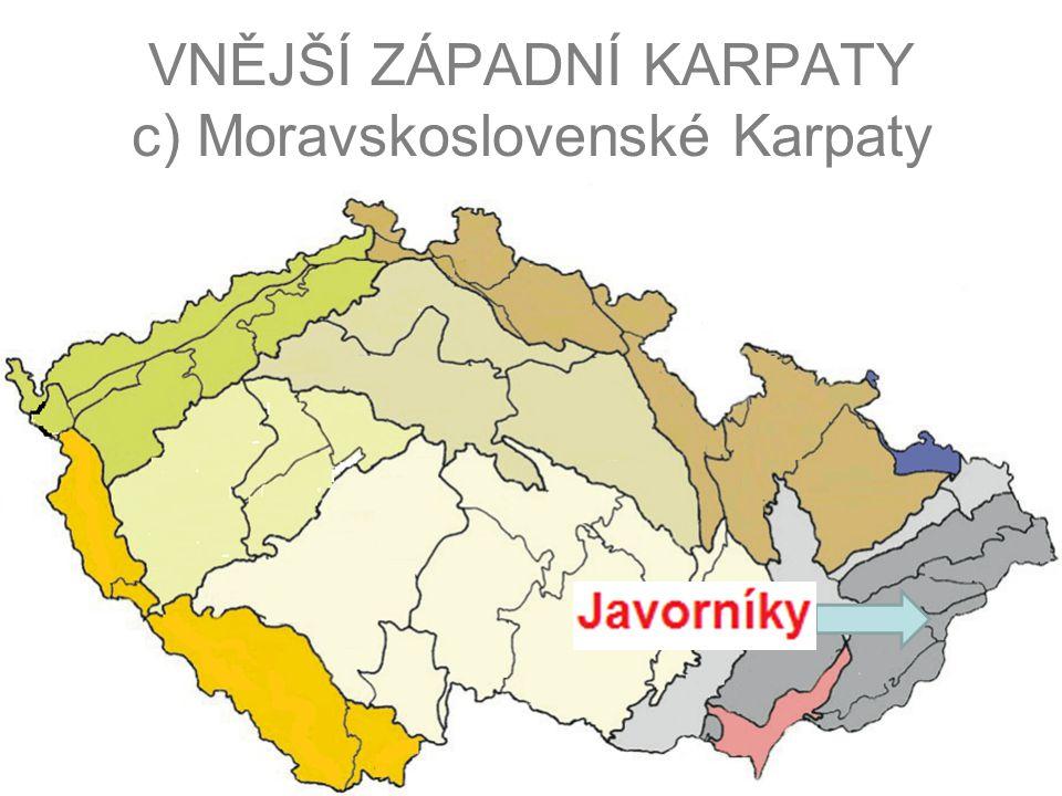 VNĚJŠÍ ZÁPADNÍ KARPATY c) Moravskoslovenské Karpaty
