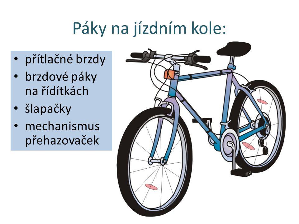 Páky na jízdním kole: přítlačné brzdy brzdové páky na řídítkách šlapačky mechanismus přehazovaček