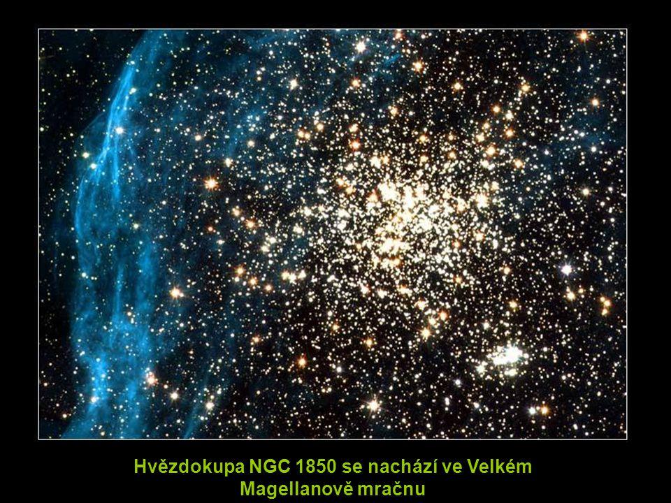 Hvězdokupa NGC 1850 se nachází ve Velkém Magellanově mračnu