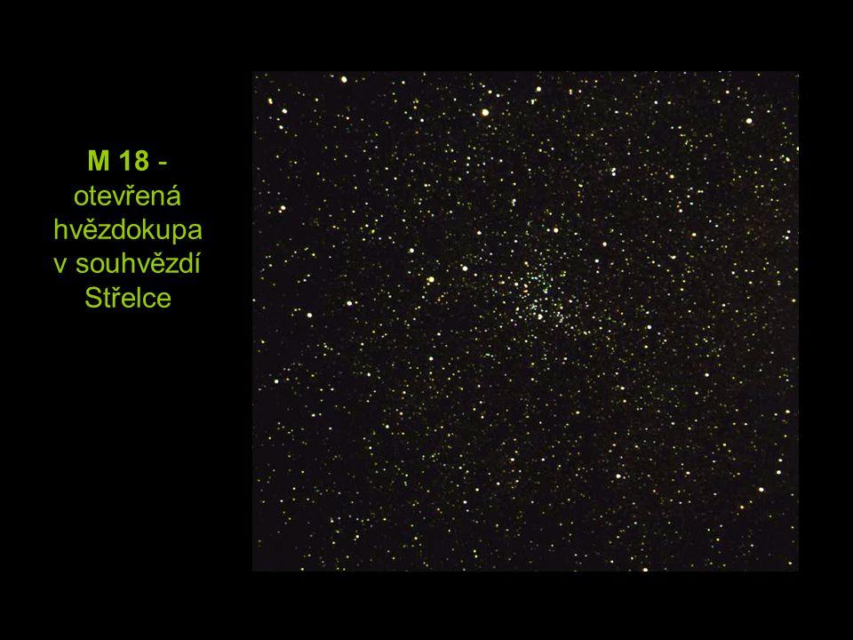 M 18 - otevřená hvězdokupa v souhvězdí Střelce