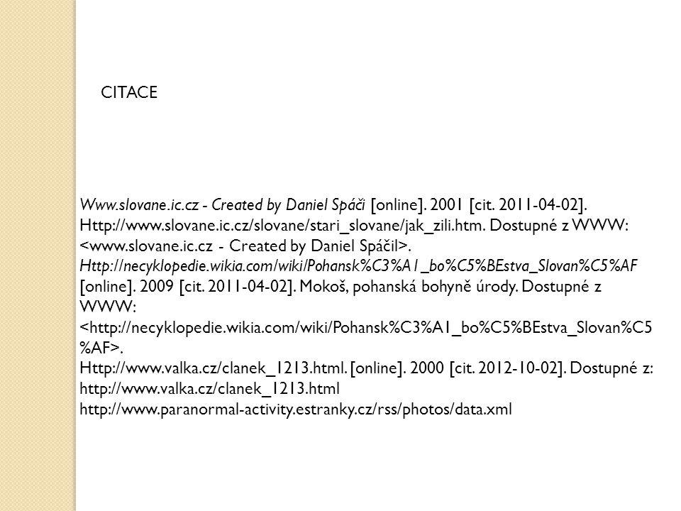 Www.slovane.ic.cz - Created by Daniel Spáči [online].