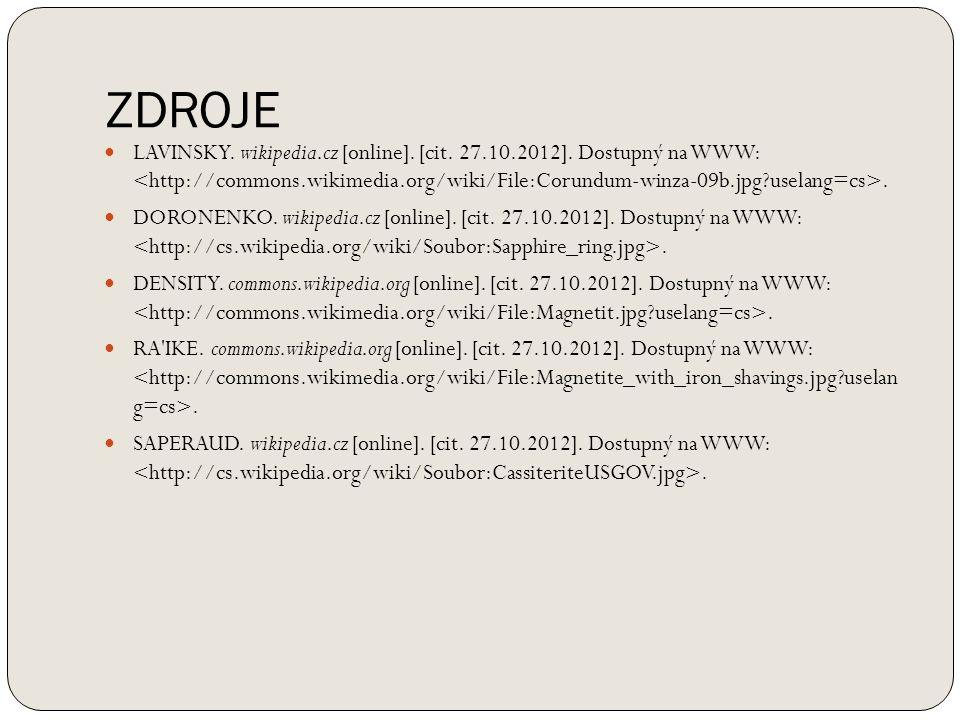ZDROJE LAVINSKY.wikipedia.cz [online]. [cit. 27.10.2012].