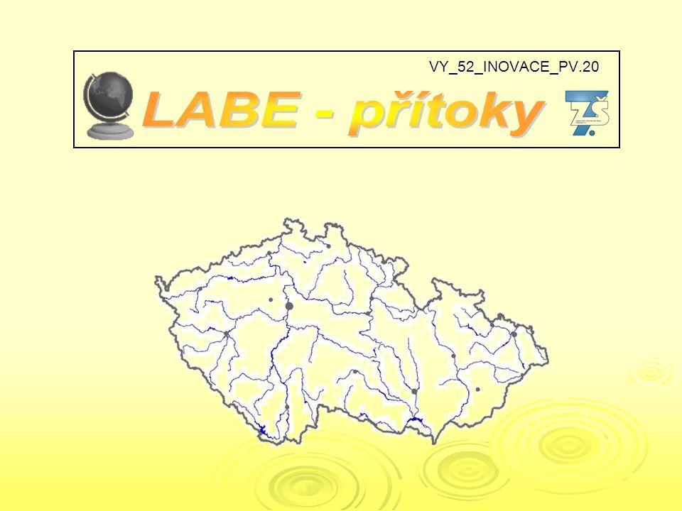 urči přítoky Labe a místa jejich soutoku D D A B CE F G H