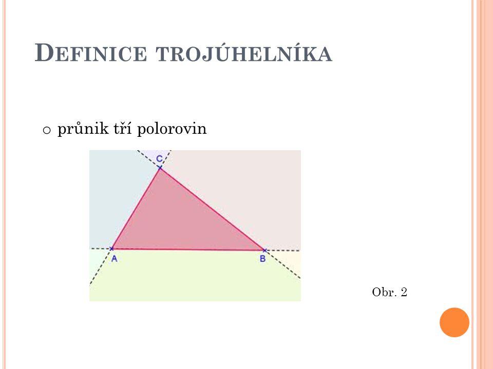 D EFINICE TROJÚHELNÍKA o průnik tří polorovin Obr. 2