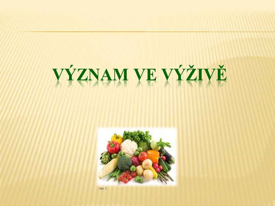 obr.3 Zeleninou rozumíme jedlé části rostlin, které se používají čerstvé nebo kuchyňsky upravené.