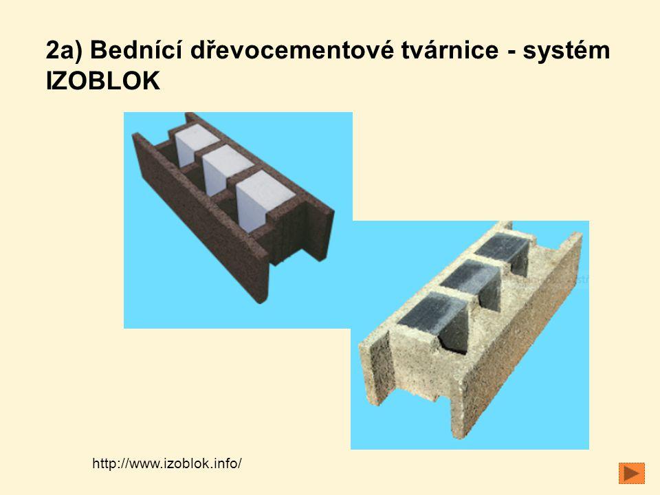 http://www.izoblok.info/ 2a) Bednící dřevocementové tvárnice - systém IZOBLOK