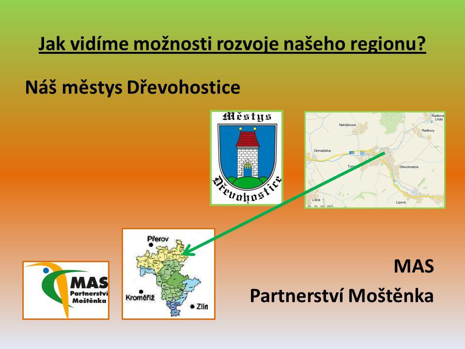 Jak vidíme možnosti rozvoje našeho regionu? Náš městys Dřevohostice MAS Partnerství Moštěnka