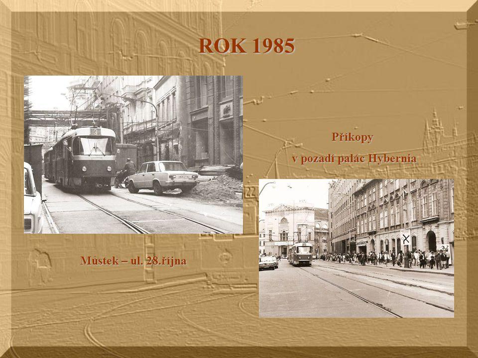 Václavské náměstí koncem 19. století Tady tramvaje dojezdily 13.prosince 1980.