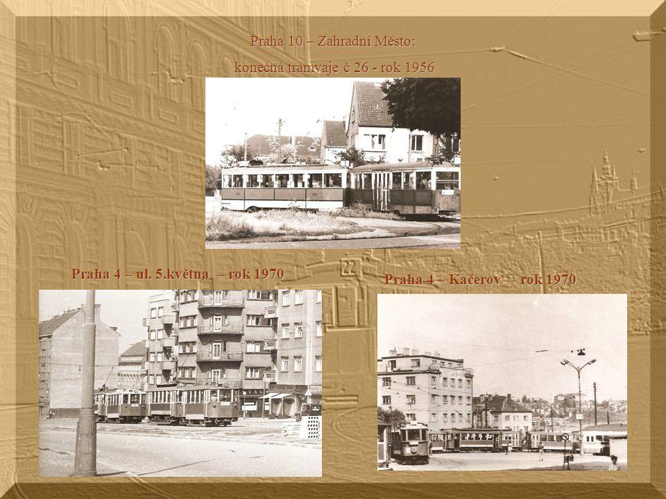 Nehoda tramvaje s lokomotivou v Českomoravské ulici - září 1944 V Českomoravské ulici bylo vleček křížících tramvajové koleje více. Na jedné z vleček