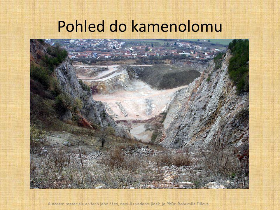 Pohled do kamenolomu Autorem materiálu a všech jeho částí, není-li uvedeno jinak, je PhDr.