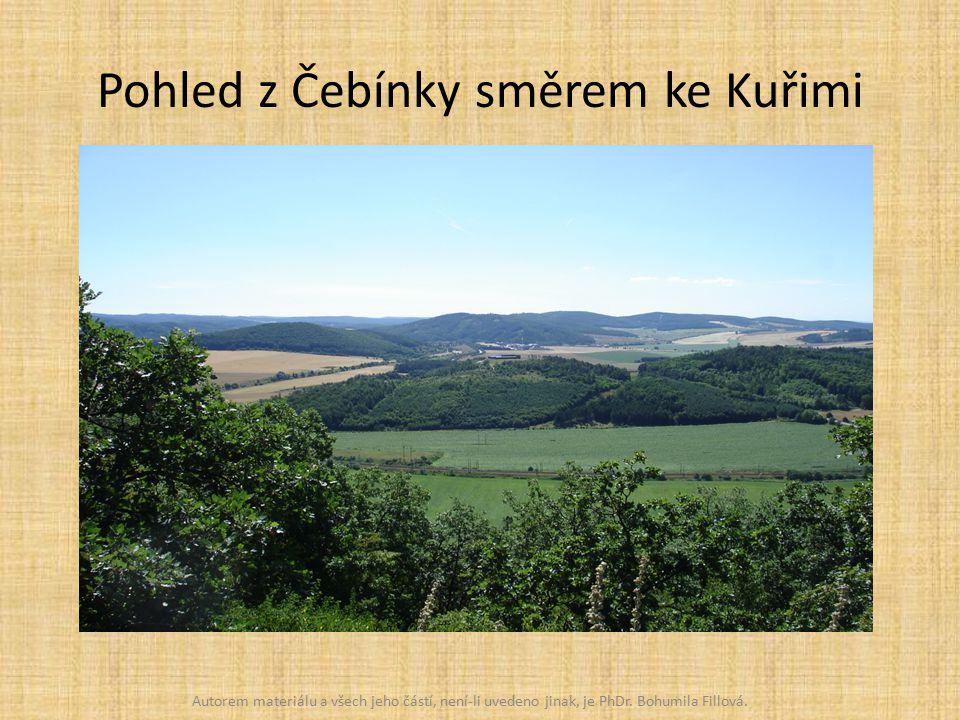 Pohled z Čebínky směrem ke Kuřimi Autorem materiálu a všech jeho částí, není-li uvedeno jinak, je PhDr.