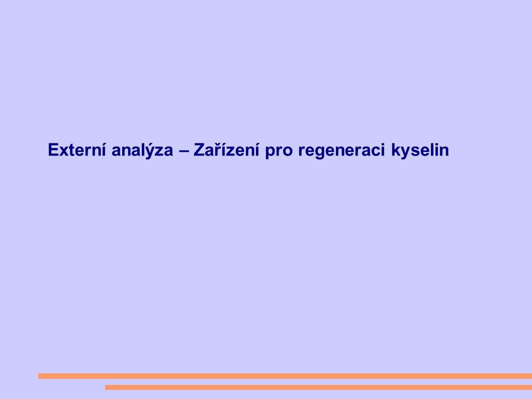 Externí analýza – Zařízení pro regeneraci kyselin