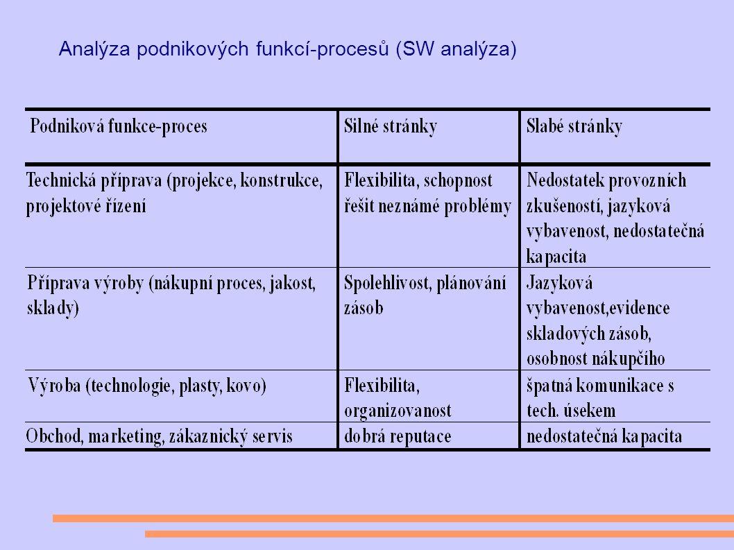 Analýza podnikových funkcí-procesů (SW analýza)