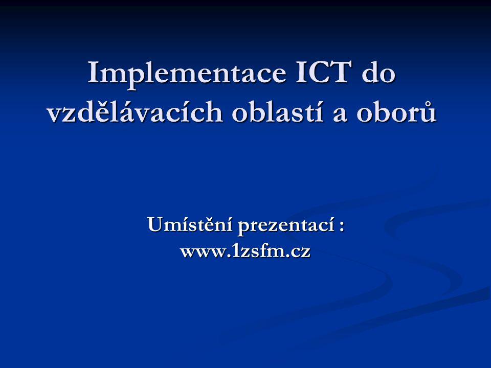 Vzdělávací obor : Aplikovaná informatika Třída: 7.