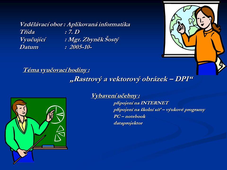 Příklady: Obrázek v rozlišení 200 DPI má na jeden palec 200 bodů.