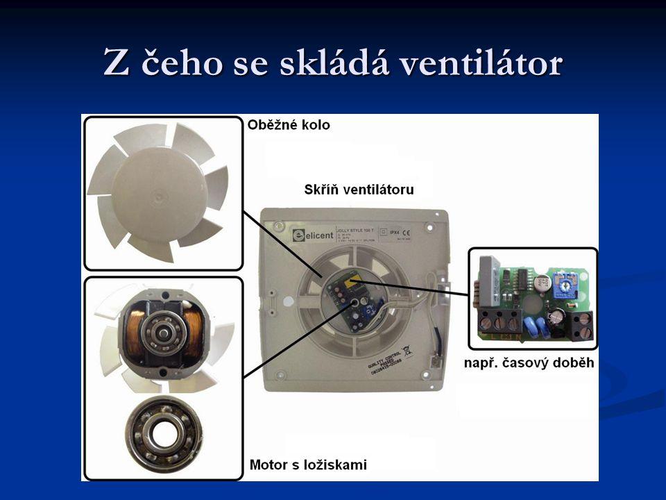 Z čeho se skládá ventilátor