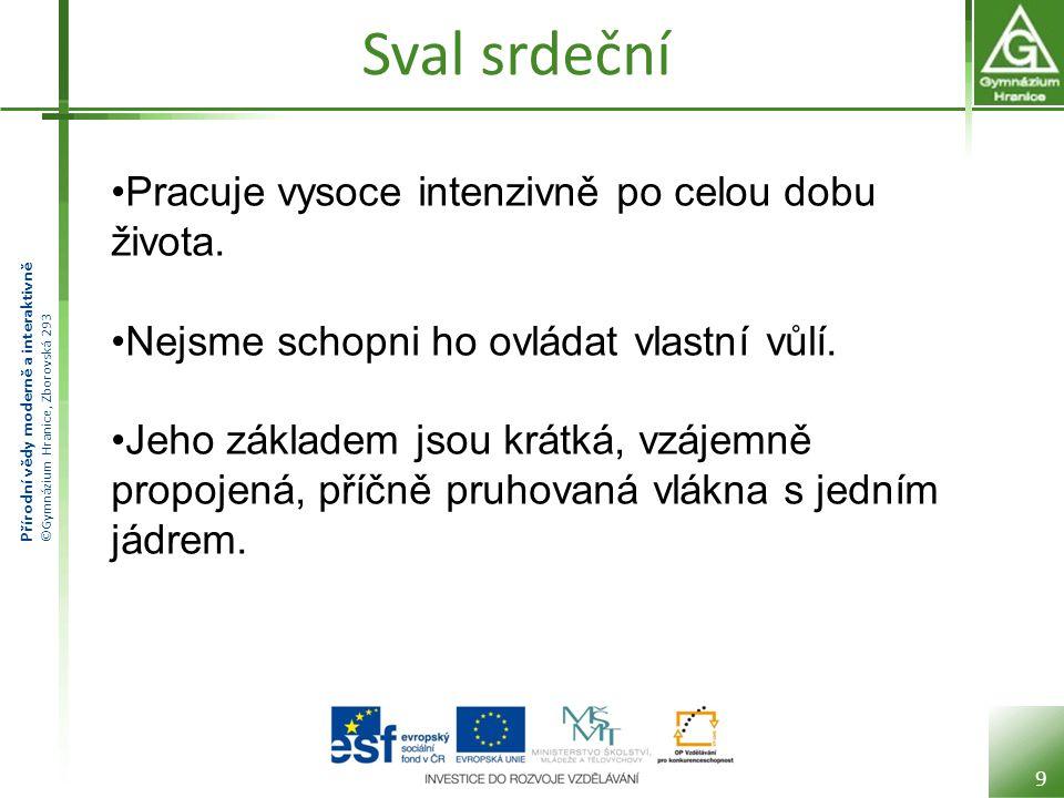 Přírodní vědy moderně a interaktivně ©Gymnázium Hranice, Zborovská 293 Jak svaly pracují Svaly pracují tak, že se zkracují a natahují.