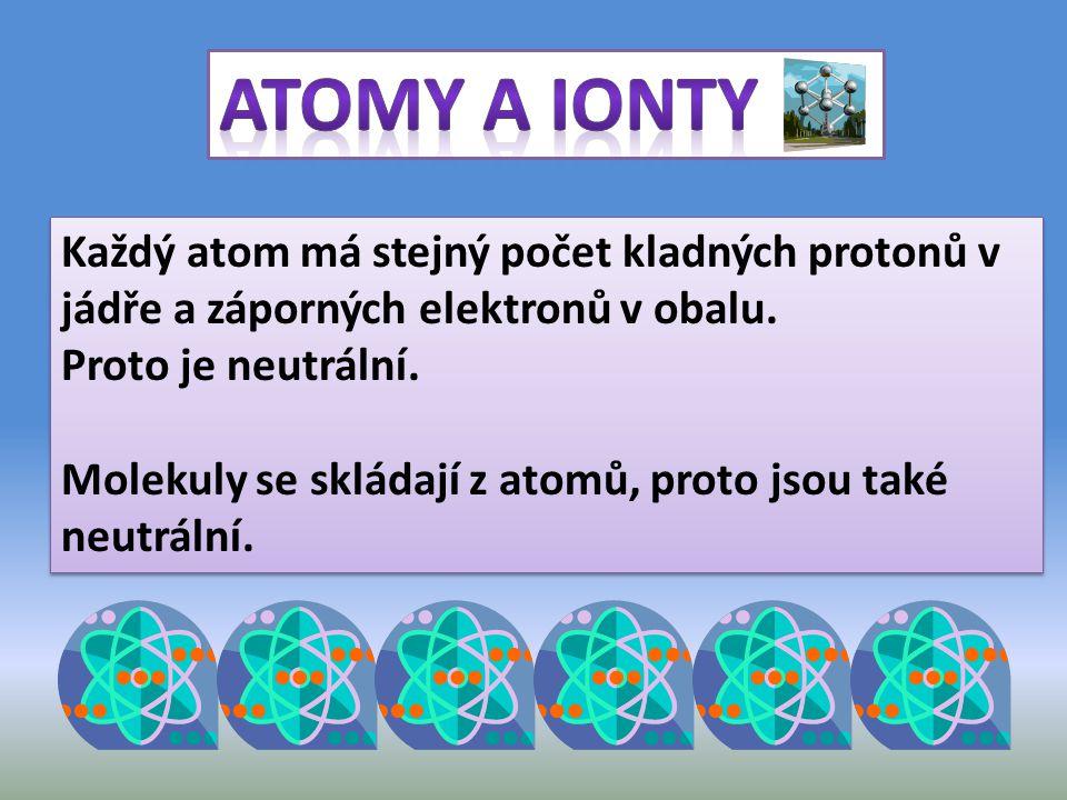 Když atom nebo molekula ztratí nějaké elektrony, například při srážce, vznikne kladný iont.