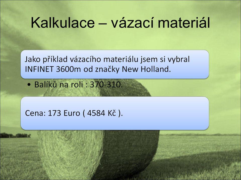 Kalkulace – vázací materiál