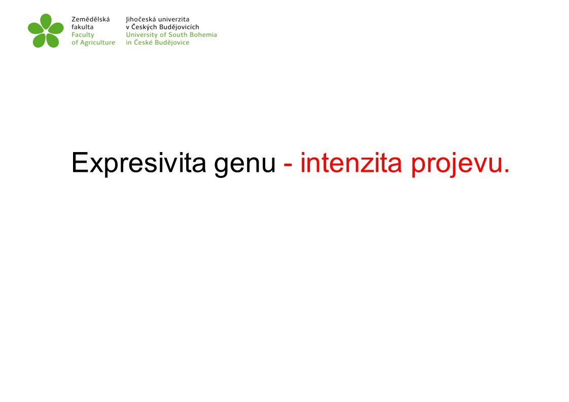 Expresivita genu - intenzita projevu.