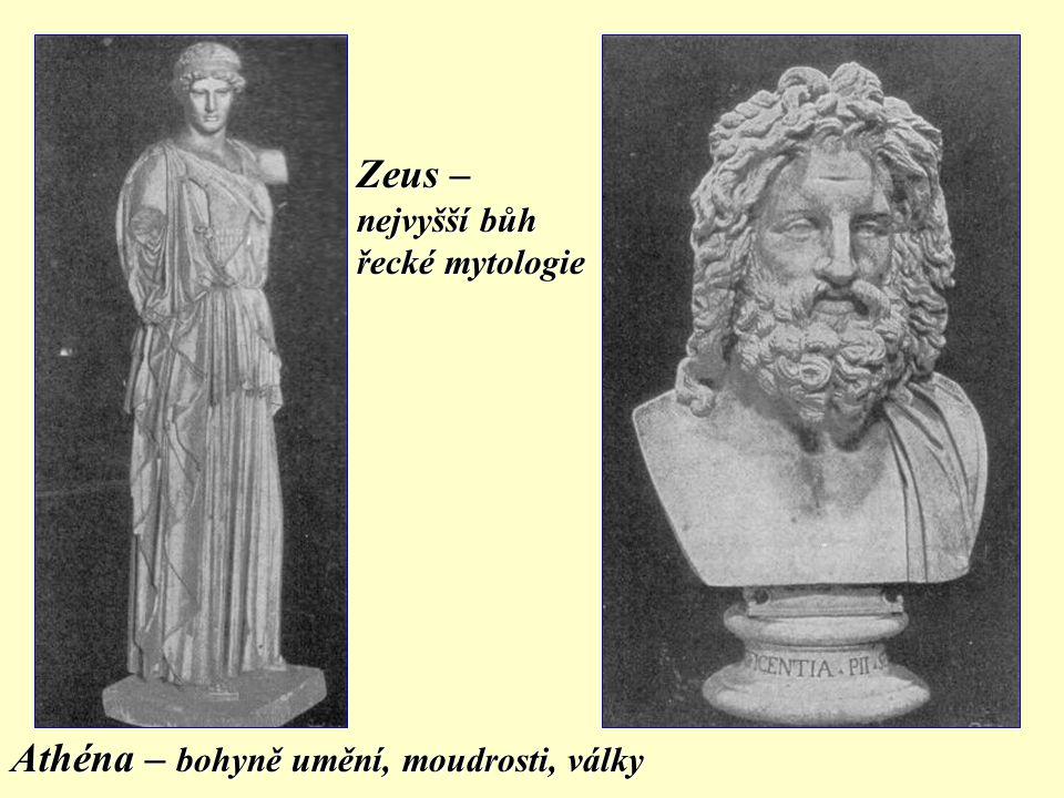 MÝTUS (BÁJE)  pokus o výklad řádu světa  o historii bohů, o vzniku člověka, o přírodních jevech Mytologie = soubor mýtů určitého společenství, národa