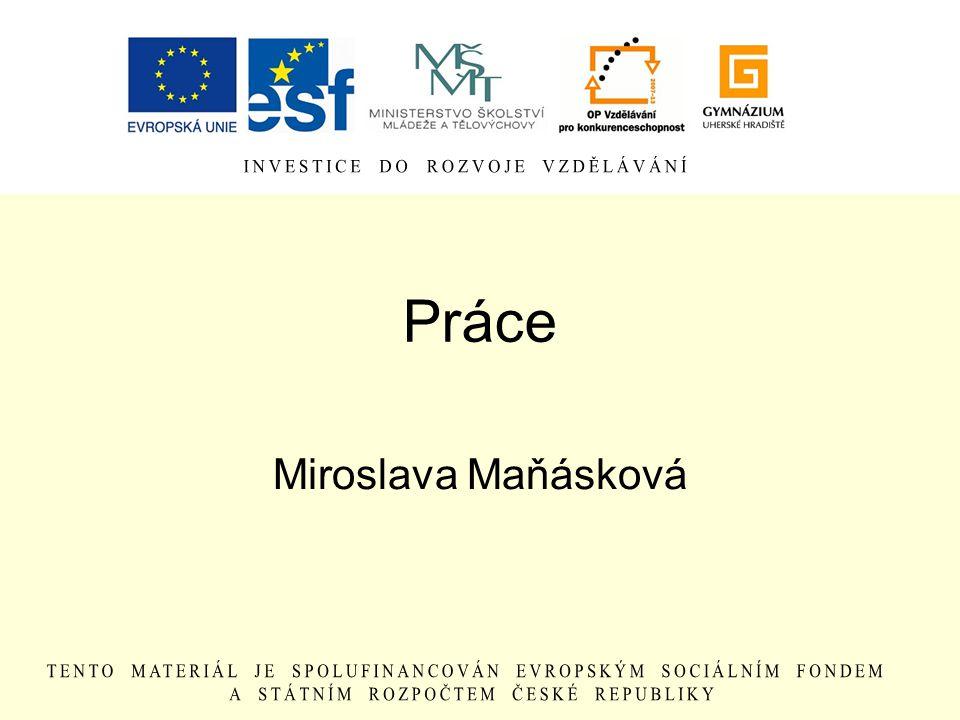 Práce Miroslava Maňásková