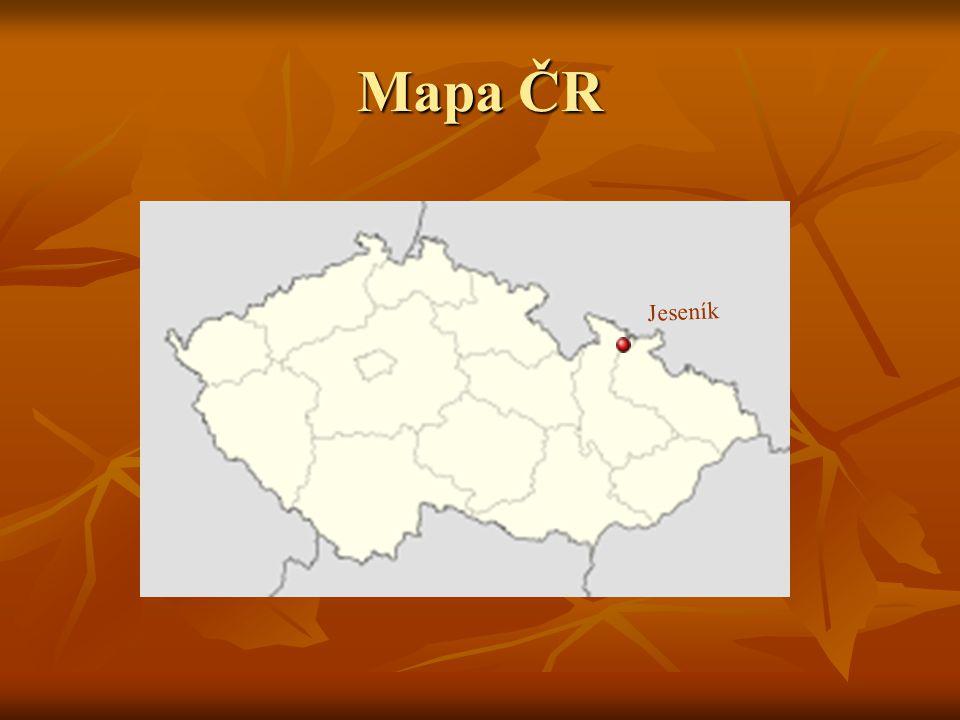 Mapa ČR Jeseník
