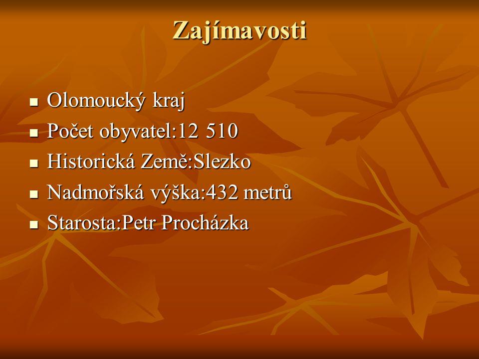 Zajímavosti Olomoucký kraj Olomoucký kraj Počet obyvatel:12 510 Počet obyvatel:12 510 Historická Země:Slezko Historická Země:Slezko Nadmořská výška:43